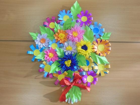 Поделка букет цветов своими руками из бумаги