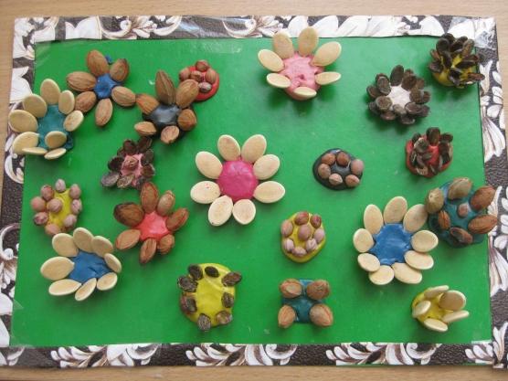 Поделки из семян и пластилина своими руками 68