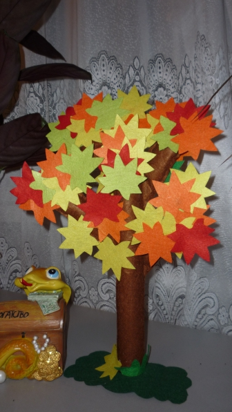 Осеннее дерево из фетра