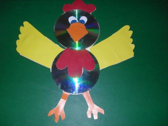 Птица из бросового материала своими руками