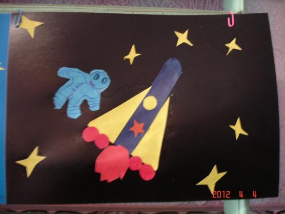 Занятие с младшей группой на тему космоса