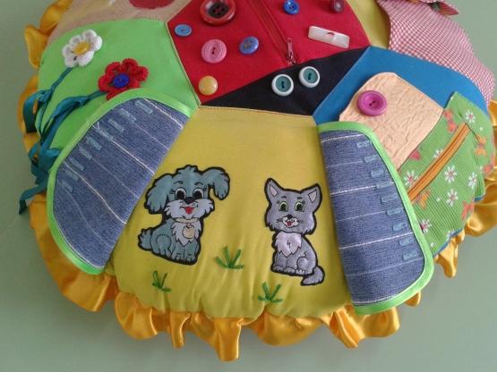 Дидактическая подушка своими руками
