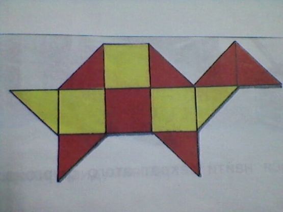 Аппликация из геометрических