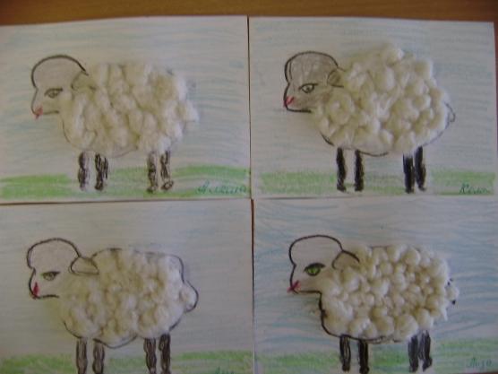 Овечка для поделки в детский сад