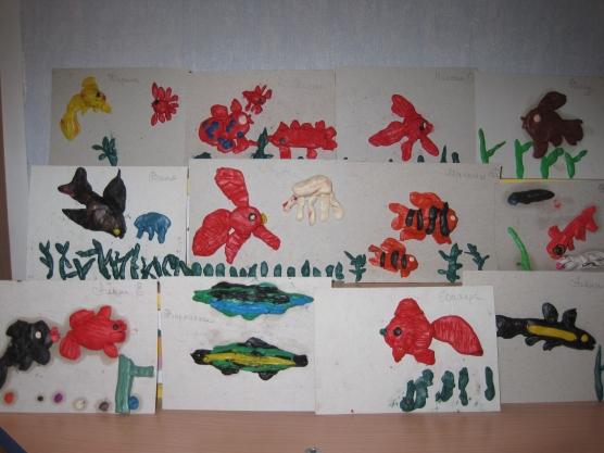 Конспект интегрированного занятия по развитию речи и художественному творчеству в старшей группе «Рыбы»