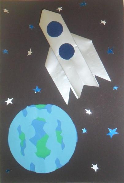 С днем космонавтики открытки своими руками для детей