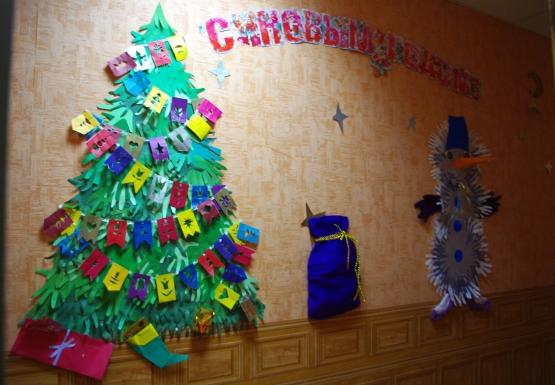 Украшения детского сада к новому году своими руками