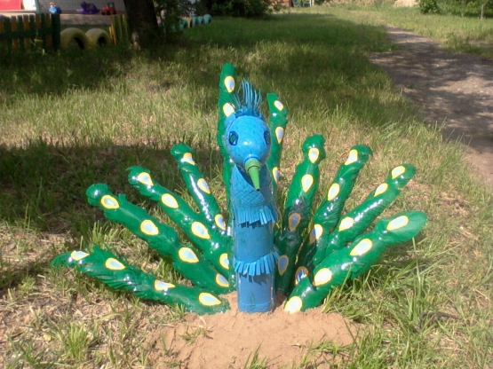 Оформление участка доу летом своими руками фото из пластиковых бутылок 72