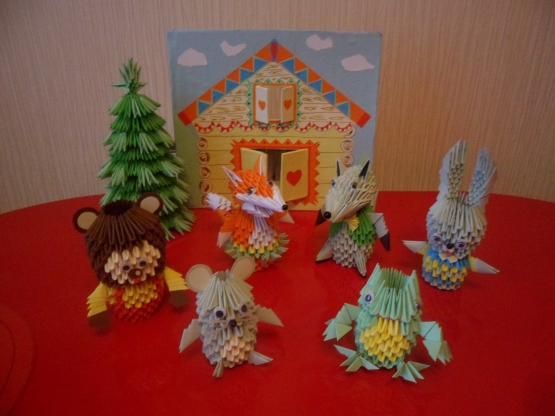 Оригами колобка сказки своими руками 16