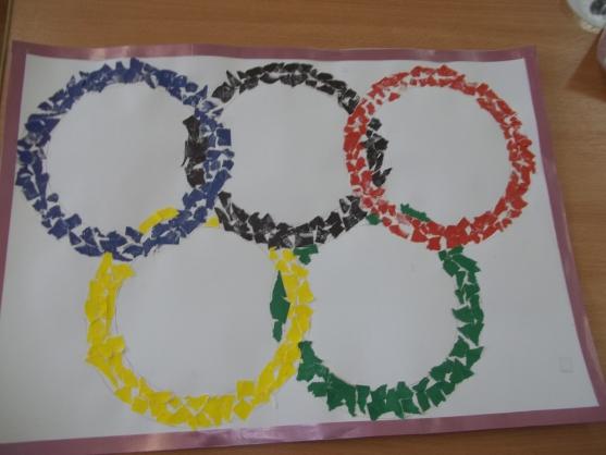олимпийские кольца картинки своими руками что
