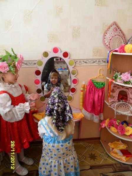 Уголок ряжения в детском саду оформление фото своими руками 25