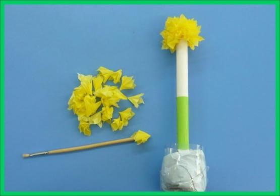 Цветы гиацинты из салфеток своими руками