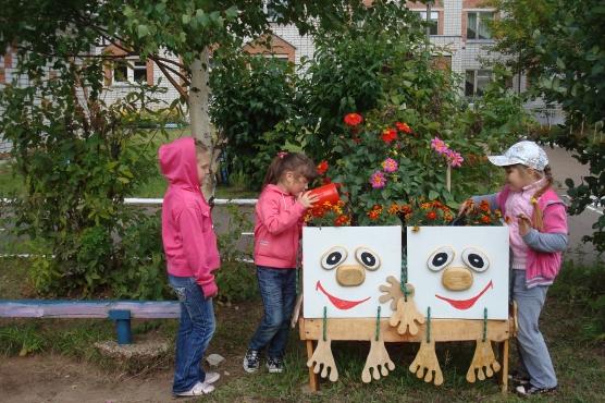 Оформление клумбы детского сада своими руками фото