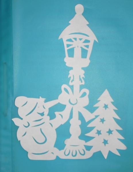 Бумаги на окно на новый год