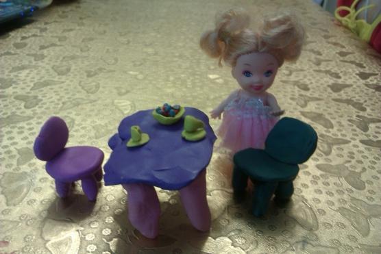 Лепка мебель для кукольного домика старшая группа