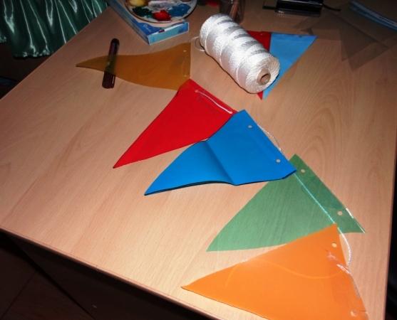 как сделать флажок в детском саду