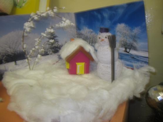 Зимняя полянка своими руками фото