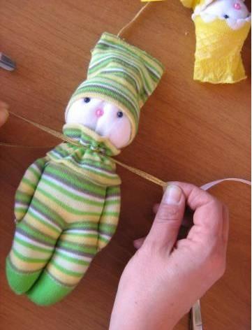 Поделки из детских носков