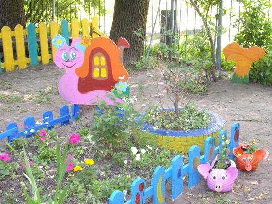 Клумба в детском саду фото