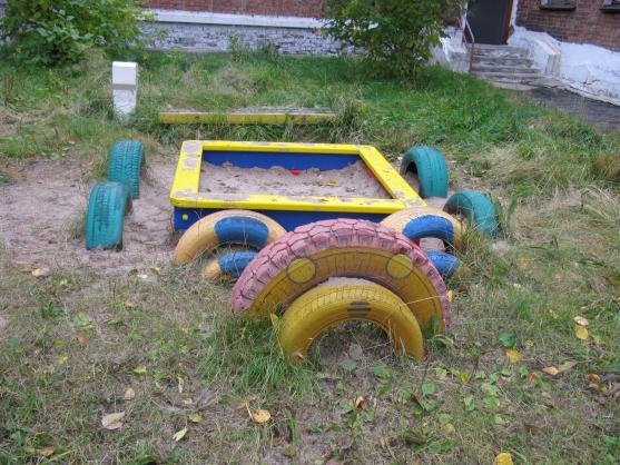 Все из шин для детского сада своими руками фото 165