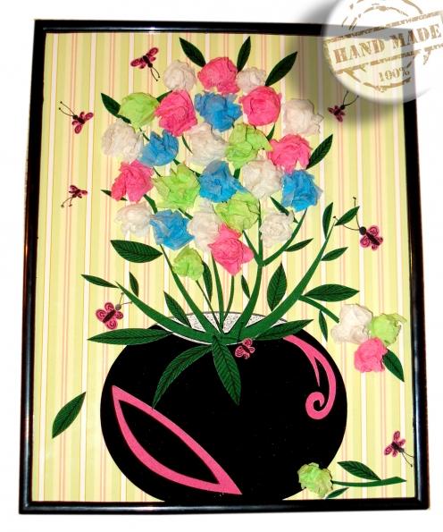 Открытки цветы в вазе своими руками из