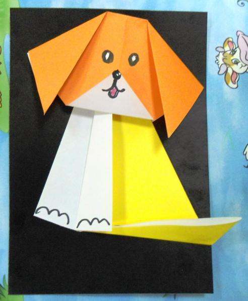 оригами щенок старшая группа фото посвящён