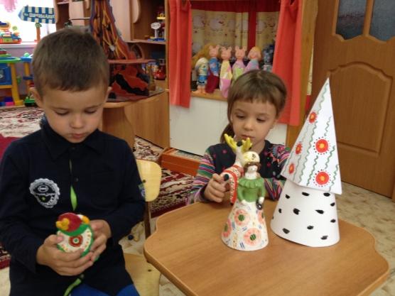 знакомство с богородской игрушкой в средней группе