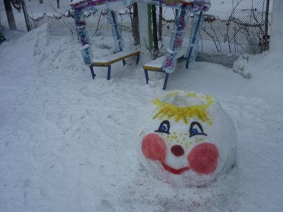 Зимнее оформление участка детского сада своими руками зимой фото