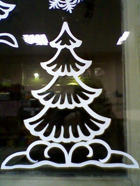 Вытыканки на окна новый год шаблоны