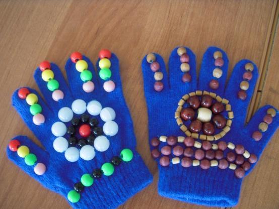 Массажные перчатки своими руками