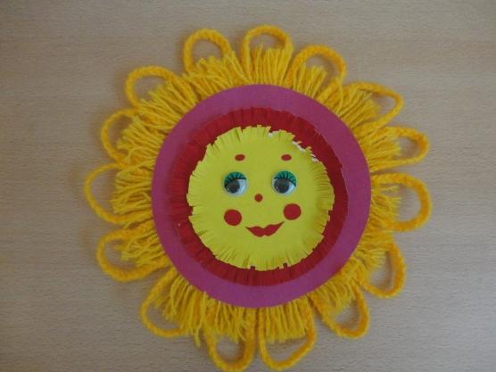 Поделка солнышко своими руками из ниток 56