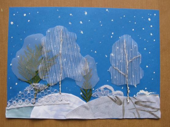 Коллаж на тему зима своими руками в детском саду