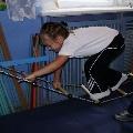 Упражнения на веревочной лестнице
