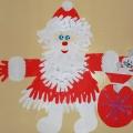 Дед Мороз из детских ладошек (ожидание праздника)