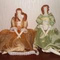 Куклы и поделки из разных материалов.