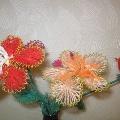 Цветы из проволоки и ниток. Мастер-класс