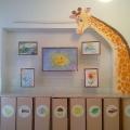 Выставочный стенд «Рисунки для любопытного жирафика»