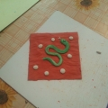 Поделки из пластилина «Змейки»