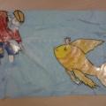 Что за чудо эти сказки!!! Аппликация по сказке А. С. Пушкина «Сказка о рыбаке и рыбке».