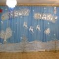 Оформление зала к Новому году и Женскому празднику 8 Марта.