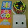 Дидактическое пособие «Цветные коврики для игр с пробками»