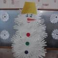 Аппликация «Веселый снеговик!»