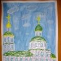 Работы в технике квиллинг: «Собор Воскресения Христова», «Осенняя веточка рябины»