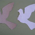 Гирлянда из белых голубей. (Голубь Мира)