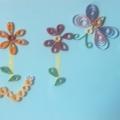 Аппликация в технике квиллинг «Цветы на поляне»