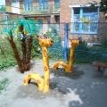 Мастер-класс: «Весёлые жирафы». Сделано из покрышек.