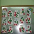 Аппликация в младшей группе «Консервируем овощи»