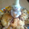 Отбивная с грибами и сыром!
