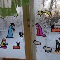 Что произошло в Вифлееме? (Рождественская сказка на окне)