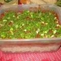 Салат из баранины.